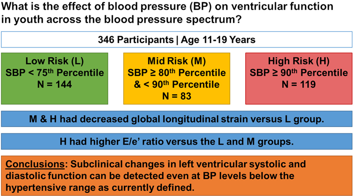 Subclinical Systolic and Diastolic Dysfunction Is Evident in Youth With  Elevated Blood Pressure | Hypertension