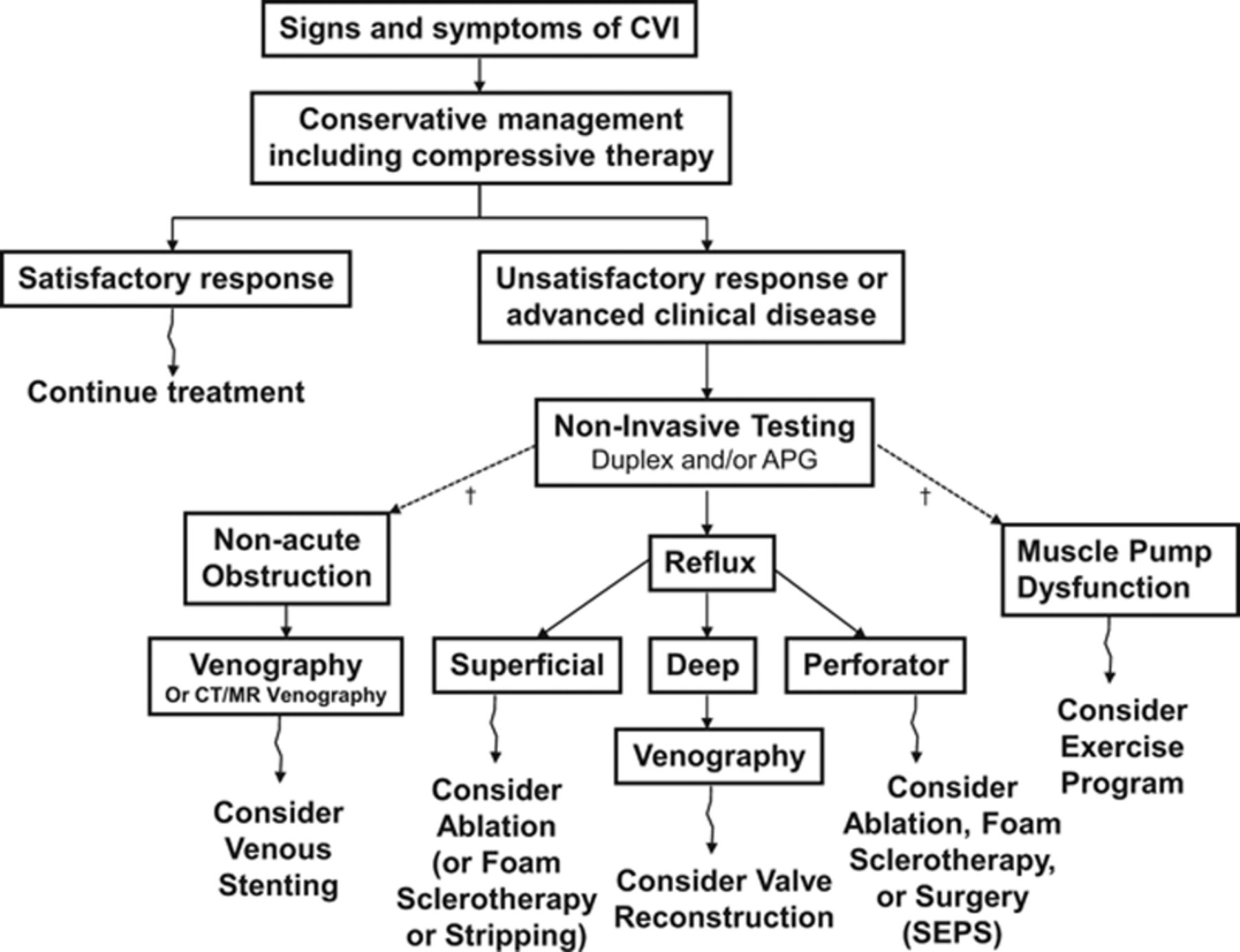 8d7a0a62d7 Download figure · Download PowerPoint. Caption. Figure 7. A simplified  overview for the diagnosis and treatment of chronic venous insufficiency ( CVI) ...