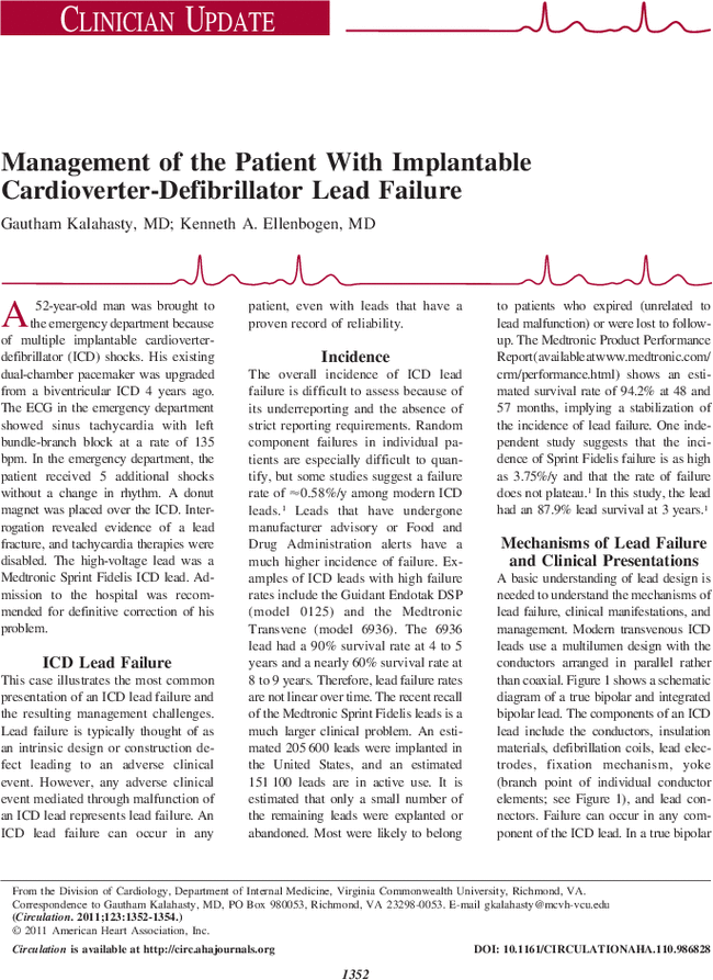Management Of The Patient With Implantable Cardioverter