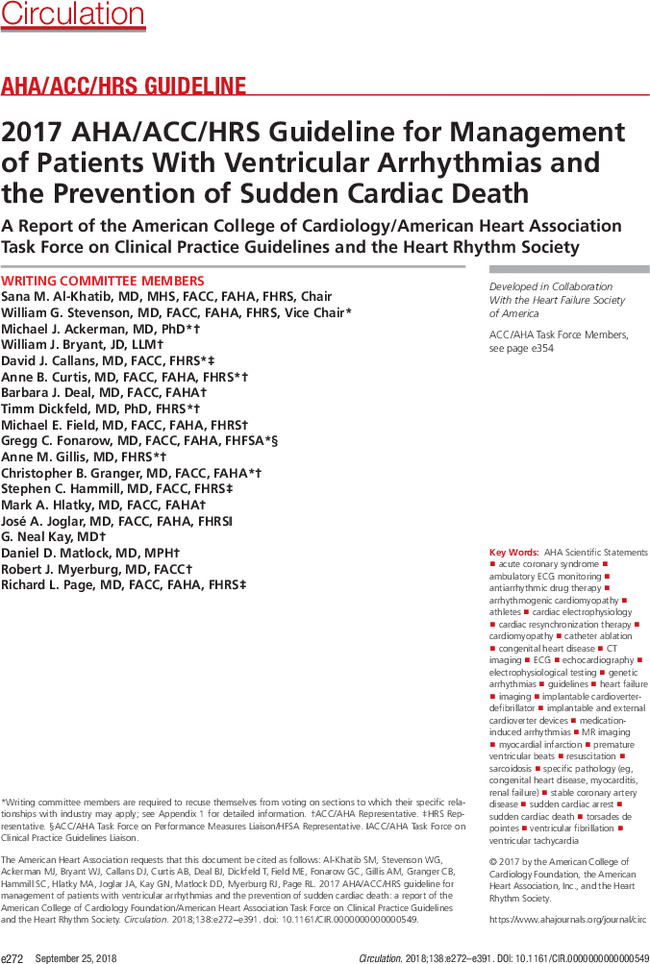 2017 AHA/ACC/HRS Guideline for Management of Patients With
