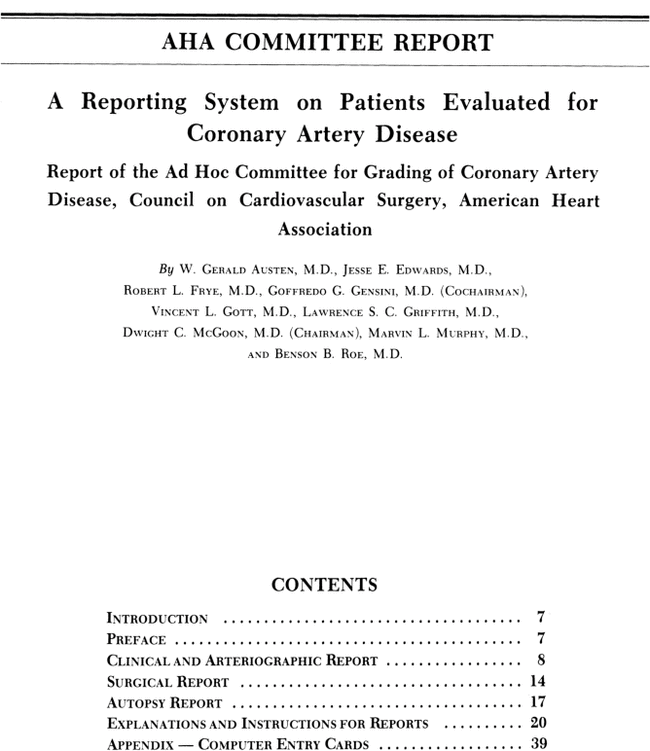 A Reporting System On Patients Evaluated For Coronary Artery Disease