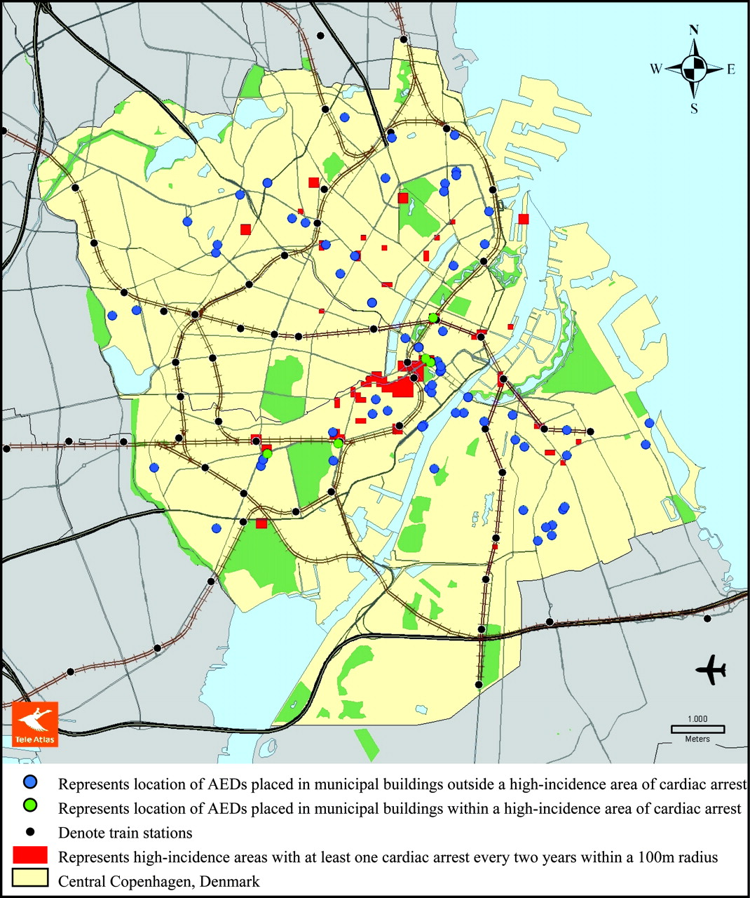 Location of Cardiac Arrest in a City Center | Circulation