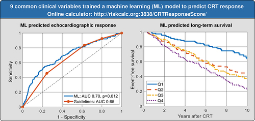 Machine Learning Prediction of Response to Cardiac