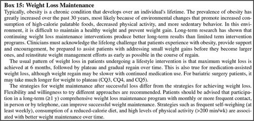 2013 AHA/ACC/TOS Guideline for the Management of Overweight